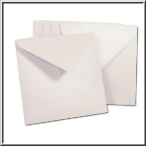 10 Square Pearlescent Lilac Envelopes