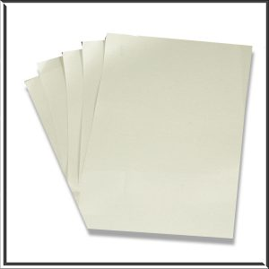 10 C6 Pearlescent Silver Paper Inserts
