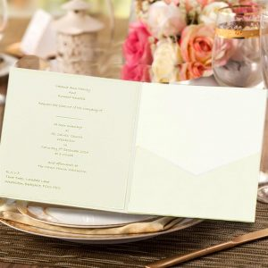 10 FAIDA Square Quarzo Pocketfold Invitation NO Flap.