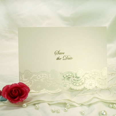 3D Laser Cut Save the Date Cards