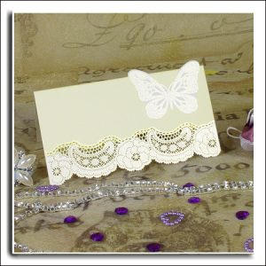 20 3D Laser Cut Butterfly Wedding Place Cards