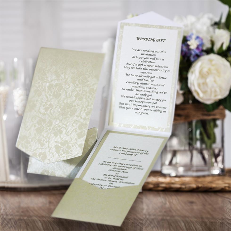 Portrait Pocketfold Invitations - Pocketfold Wedding Invitations
