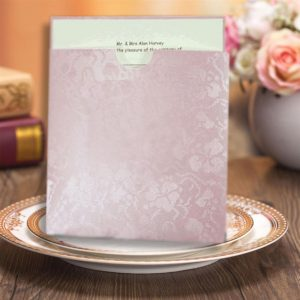 10 LAVENDER BRODERIE Square Wedding Wallets
