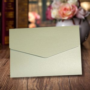 A6 Pearlescent DIY Pocketfold Invitations Wedding Wallets