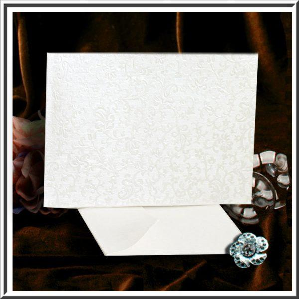 10 Tapestry Dandy White Applique C6 Self Seal Envelopes