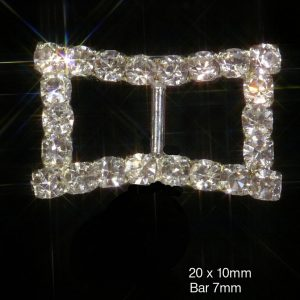 Curved Edge Grade A Rhinestones Ribbon Slider Buckles