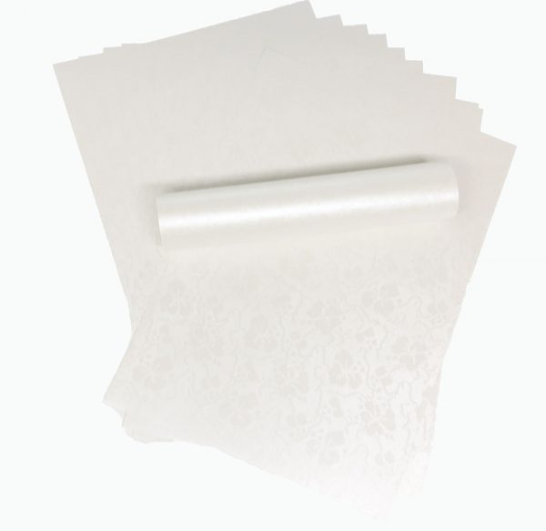 A4 Dandy White Broderie Embossed Paper 120gsm