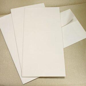 White Contemporary Silkweave DL Envelopes 10 per pack