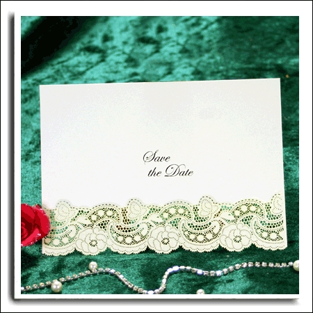 10 SILVER BELLFLEUR SAVE THE DATE SILVER EMBOSSED FONT ON WHITE CARD