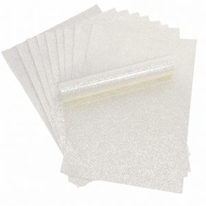 White Iridescent Glitter Card A4 Sparkly Soft Touch Non Shed 250gsm Pack of 10 Sheets