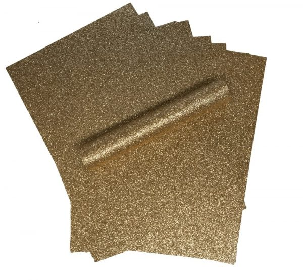 10 A4 Rose Gold Glitter Paper Soft Touch Non Shed 150gsm