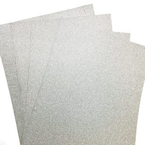 10 A4 Glitter Card Silver Illusion 100% Non Shed 250gsm