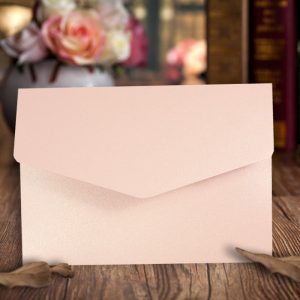 A6 Pocketfold Invitations Pearlescent Petals Pink pack of 10