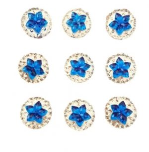 Blue Star Resin Embellishments