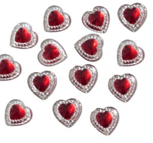Red Heart Resin Embellishments