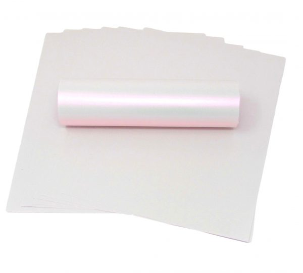 10 Sheets of A4 Glaze Pink Iridescent Paper 100gsm