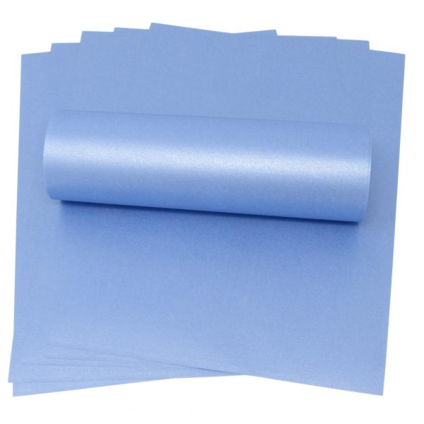 10 Sheets of A4 Maya Blue Pearlised Paper 100gsm