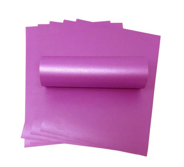 10 Sheets of Perewinkle A4 Pearlised Paper 100 gsm.