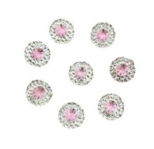 Round Light Pink Resin Embellishments