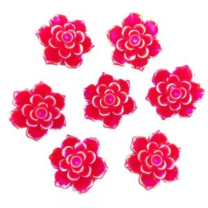 Red Rose Resin Embellishments