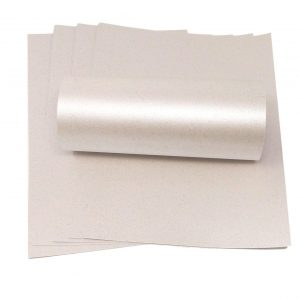 10 Sheets of A4 Iridescent Sparkle Paper Orchid White 120gsm