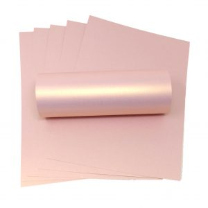 10 Sheets of A4 Rose Gold Pearlescent Double Sided Card 300gsm