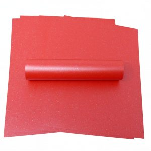 10 Sheets of A4 Iridescent Sparkle Paper Christmas Red 120gsm