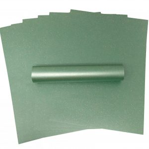 10 Sheets of A4 Iridescent Sparkle Paper Christmas Green 120gsm