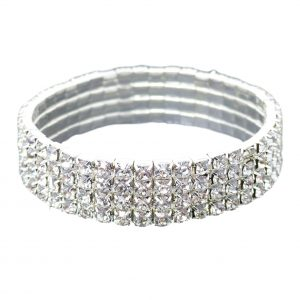 Diamante Crystal Stretch Bracelet With Sparkly Rhinestones