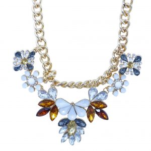 Diamante Rhinestone Colourful Womens Necklace Costume Fashion Jewellery