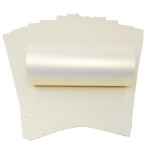 10 Sheets of Ice Gold Iridescent Card 300gsm