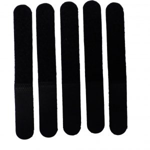 10 Tidy Ties Reusable Black Fabric Hook and Loop Cable Ties Wrap Fasteners