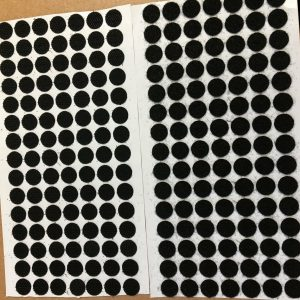 210 Black Self Adhesive (105 Hook & 105 Loop) Disks 13mm