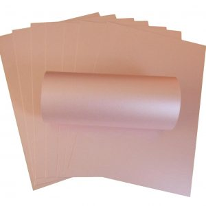 10 Sheets of Misty Rose Pearlescent Double Sided Card 300gsm