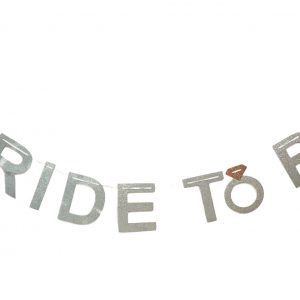 Bride To Be Silver Glitter Banner / Bunting For Hen Parties