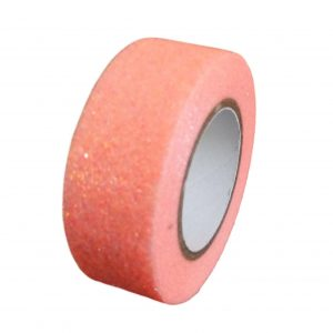 Coral Pink Glitter Washi Tape Decorative Masking Self Adhesive