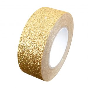 Gold Glitter Washi Tape Decorative Masking Self Adhesive