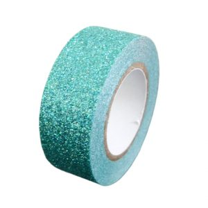 Turquoise Glitter Washi Tape Decorative Masking Self Adhesive