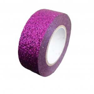 Purple Glitter Washi Tape Decorative Masking Self Adhesive
