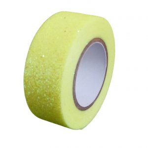 Lemon Glitter Washi Tape Decorative Masking Self Adhesive