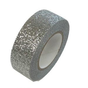 Silver Glitter Washi Tape Decorative Masking Self Adhesive