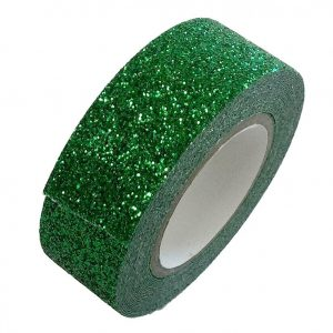 Green Glitter Washi Tape Decorative Masking Self Adhesive