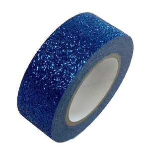 Royal Blue Glitter Washi Tape Decorative Masking Self Adhesive