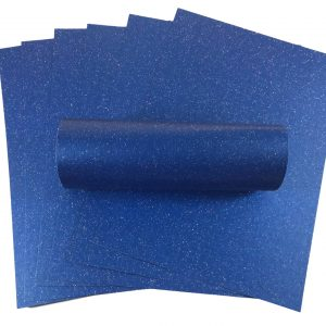 10 Sheets A4 Yale Blue Iridescent Sparkle Card Quality 300gsm