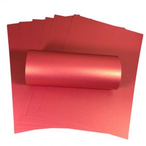 10 Sheets Magenta A4 Card With Gold Pearlescent Shimmer Decorative One Sided 300gsm