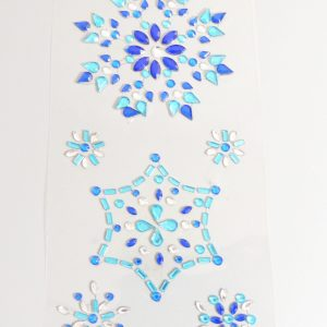 self adhesive blue snowflakes stickers sparkly resin rhinestone embellishments
