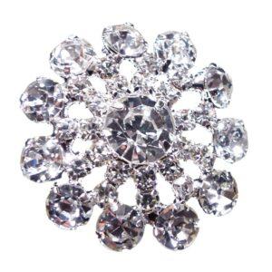 Round Flower Diamante Embellishments Pack of 10