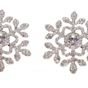 'Snowflower' Diamante Snowflake Embellishment For Winter Weddings Pack of 2 Snowflake