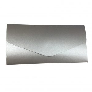 10 inari Silver pearlised landscape pocketfold invitations