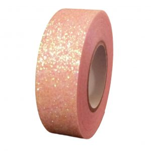 Pink Glitter Washi Tape Decorative Masking Self Adhesive